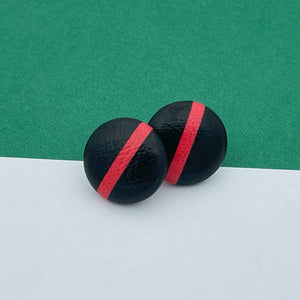 Handmade by 925Ltd Button Earrings Essendon Aussie Rules Button Earrings