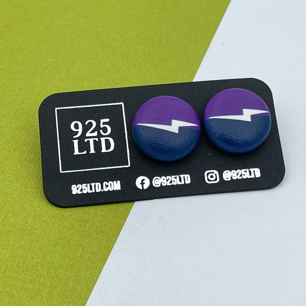 Handmade by 925Ltd Button Earrings Melbourne Rugby League Button Earrings