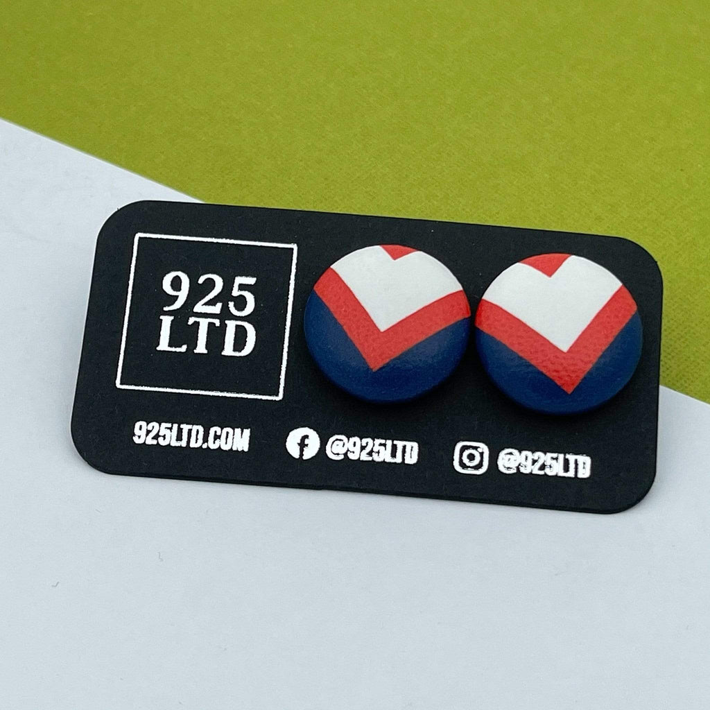 Handmade by 925Ltd Button Earrings Sydney Rugby League Button Earrings