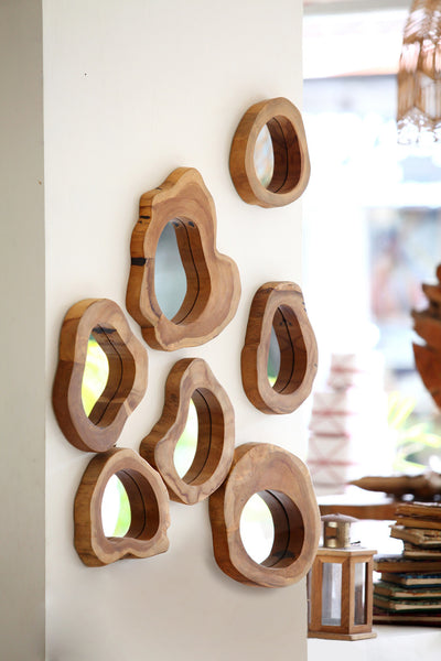Natural Wood Slice Mirrors - New Product