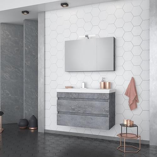 "Rhea - 32"" Floating Vanity with Integrated Porcelain Sink"