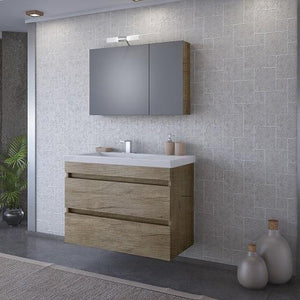 "Elena - 32"" Floating Vanity with Integrated Porcelain Sink"