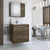 "Zoe - 30"" Floating Vanity with Integrated Porcelain Sink"