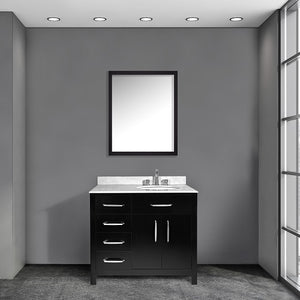 Annie 36 Inch Black Bathroom Vanity - Coming September