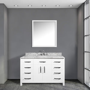 Olivia 48 Inch White Bathroom Vanity - Coming September