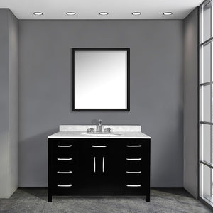 Luke 48 Inch Black Bathroom Vanity - Coming September