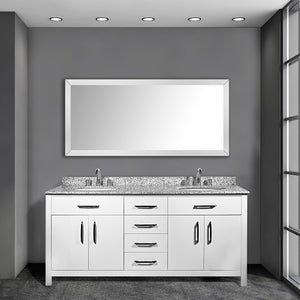 Kate 60 Inch White Bathroom Vanity - Coming September