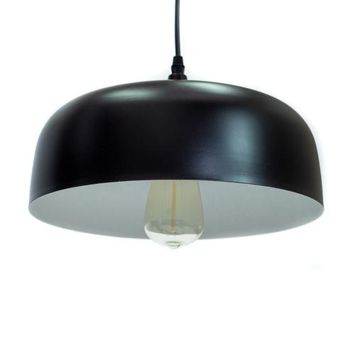 Euclid Black - 1-Light Aluminum Metal Ceiling Pendant Downlight