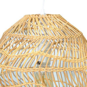 Monterey - Natural Rattan Dome Pendant Light on Adjustable Cable