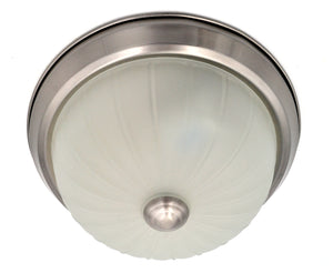 Flush Mount Ceiling Light with Satin Nickel and Glass Light Fixture