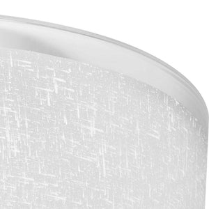 Dora - Large 3-Light Semi-Flush Mount Ceiling Light Fixture with Brushed Satin Nickel with Textured Glass
