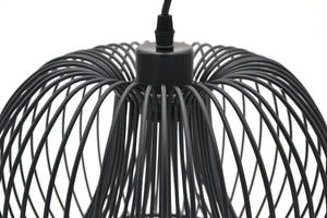Modern Black Wire Pendant Ceiling Light, Round Shape