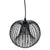 Brooklyn - Modern Black Wire Pendant Ceiling Light, Round Shape