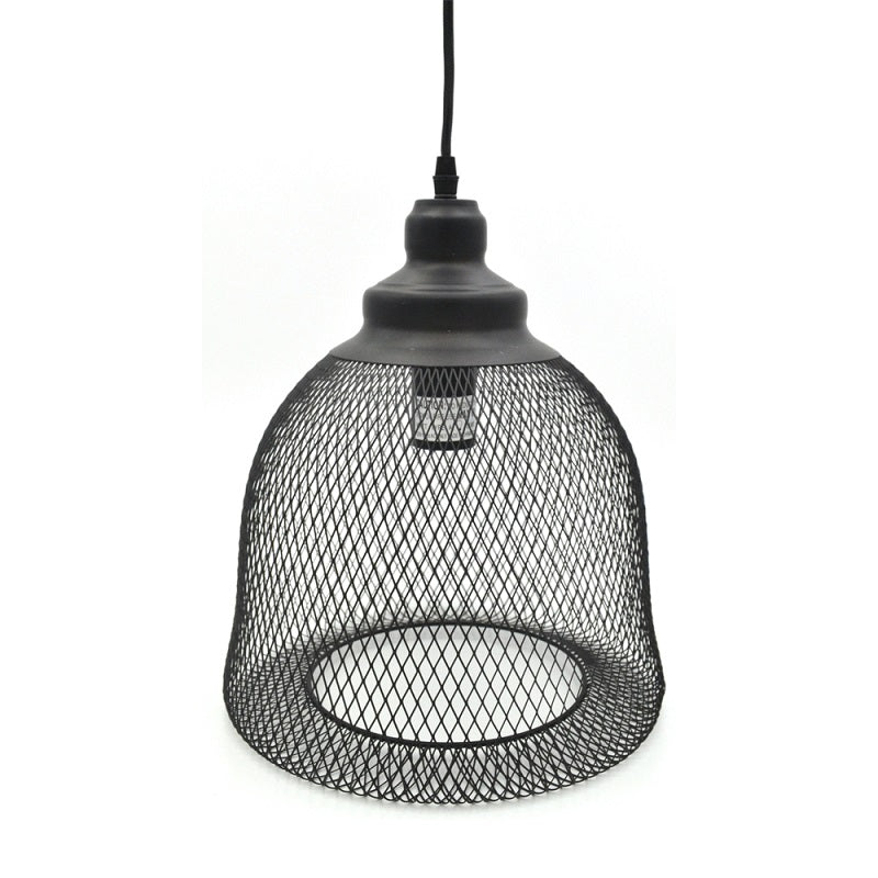 Summit - Modern Black Wire Pendant Ceiling Light, Dome Shape