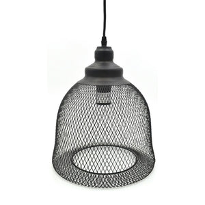 Modern Black Wire Pendant Ceiling Light, Dome Shape