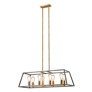 Austin Modern Glam 8-Light Linear Chandelier