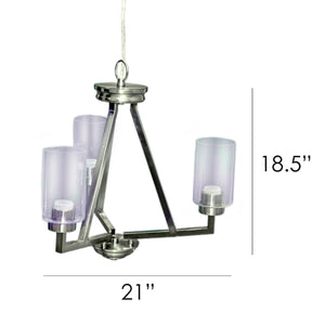 Brixton 3-Light Contemporary Chandelier