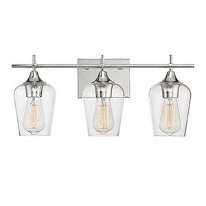 Emma - Chrome Bathroom Vanity Light