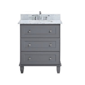"Ava - 30"" Grey, Modern Freestanding Bathroom Vanity"