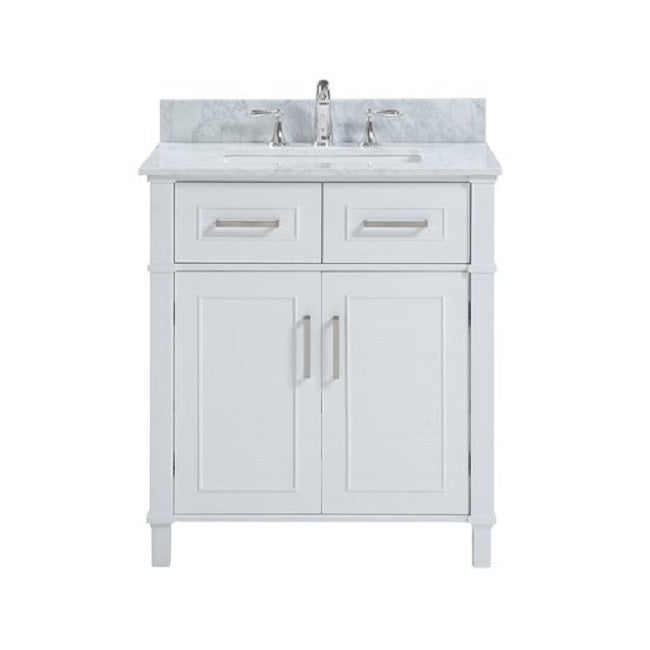 "Isla - 30"" White, Modern Freestanding Bathroom Vanity"