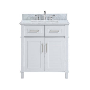 "Isla - 30"" White, Modern Freestanding Bathroom Vanity - Coming July 1st"