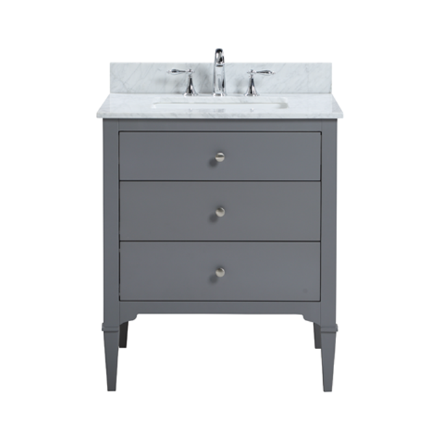 "Raya - 30"" Grey, Modern Freestanding Bathroom Vanity"