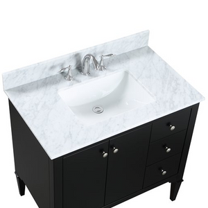 "Avery - 36"" Black, Modern Freestanding Bathroom Vanity"