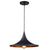 Carter - Matte Black Hanging Pendant Light with Golden Interior Shade