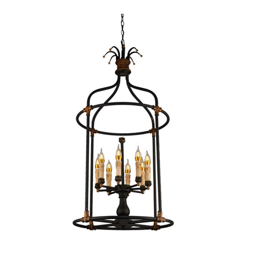 Delphine Iron and Wood Chandelier