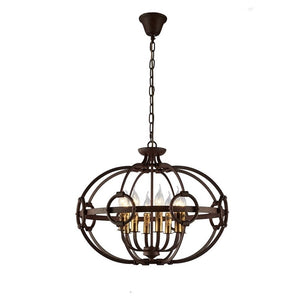 8 Light Iron Orb Chandelier
