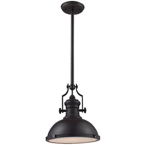 Presley Matte Black Industrial Pendant Light