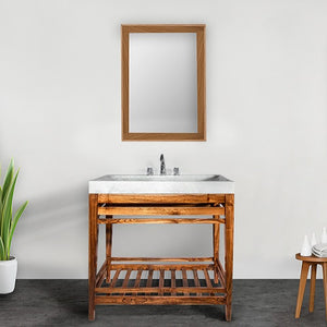 Sivan 36 Inch Teak Wood Bathroom Vanity - Coming September