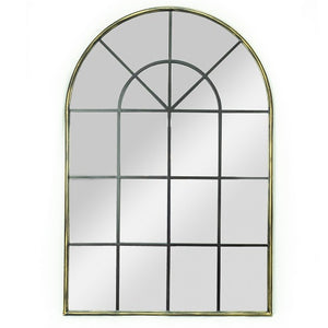 Lancet - Large Arched Window Mirror with Antique Bronze Metal Finish