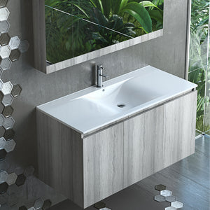 Apollo 36 Inch Modern, Wall Mounted Floating Bathroom Vanity