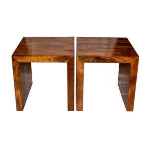 Dogwood Nesting Coffee Table Set with Two End Tables, Solid Mango Wood