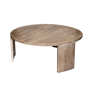 Quinn Round Modern Coffee Table in Solid Mango Wood