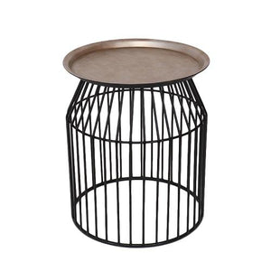 Harvey - Gold and Black Iron End Table