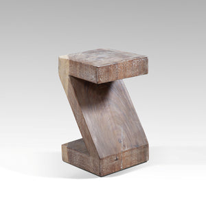 Zee Decorative Z-Shaped Accent Table from Natural Suar Wood
