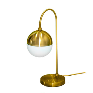 Klara Lamp - Brass Metal Midcentury Modern Table Lamp, Iron with Frosted Glass
