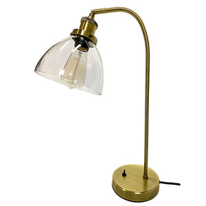 Newburgh Table Lamp - Bronze Metal Table Lamp with Clear Glass Shade