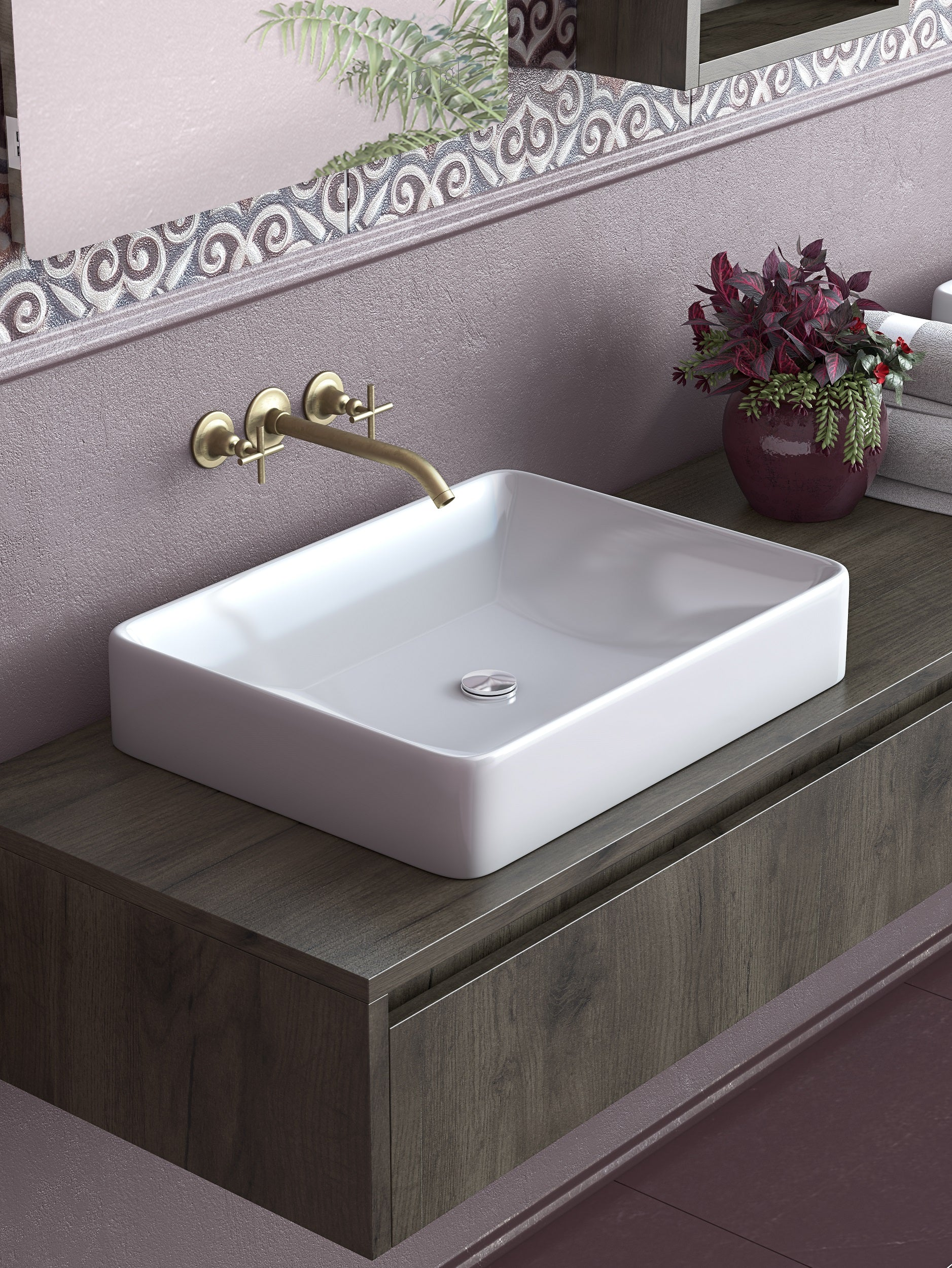 Picture of: Titan 36 Inch Modern Wall Mounted Floating Bathroom Vanity A Touch Of Design