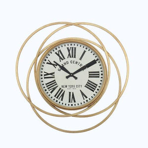 "Kensington - 28"" Large Grand Central Station Clock in Gold Finish"