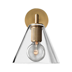 La Salle Simple Geometric Wall Sconce with Glass Shade