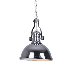 Silver Metal Chrome Pendant Hanging Light Fixture