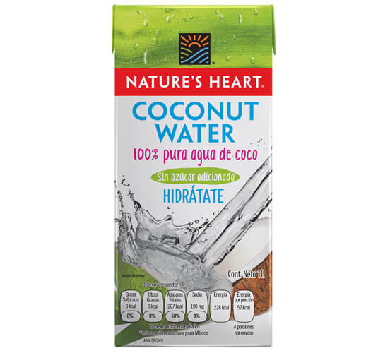 Nature's Heart Agua de coco 1lt