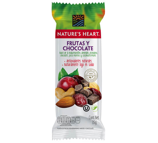 Nature's Heart Frutas y chocolate 35gr
