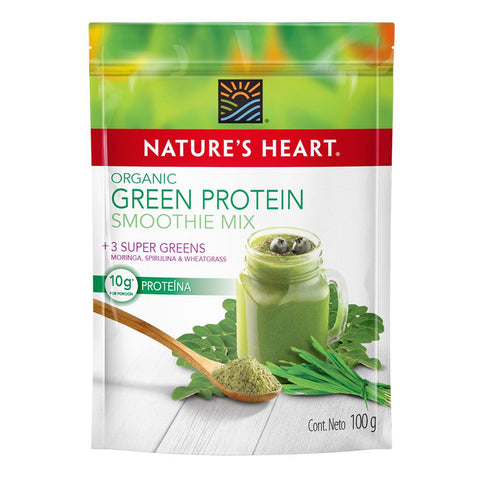 Nature's Heart Smoothie Organic Green protein 100 gr