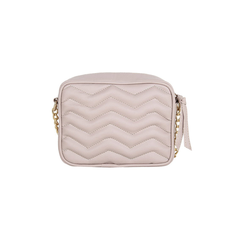 Yelloe Zig Zag Quilted Small Sling Bag