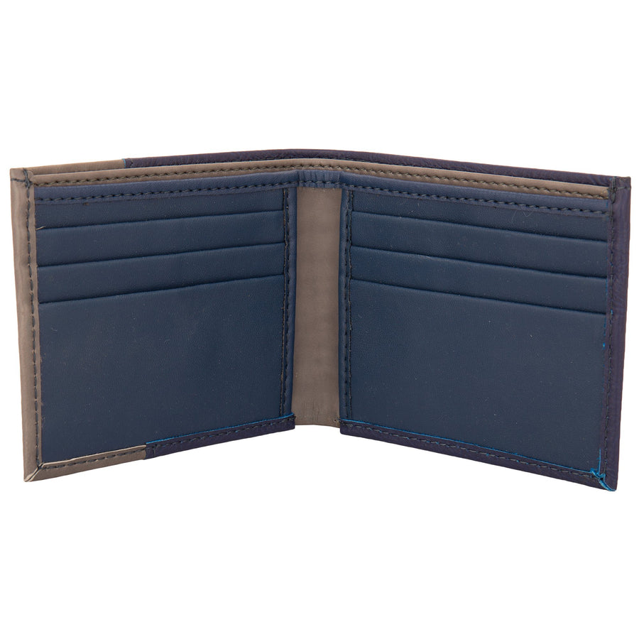 Yelloe Blue & Grey Mens PU Wallet