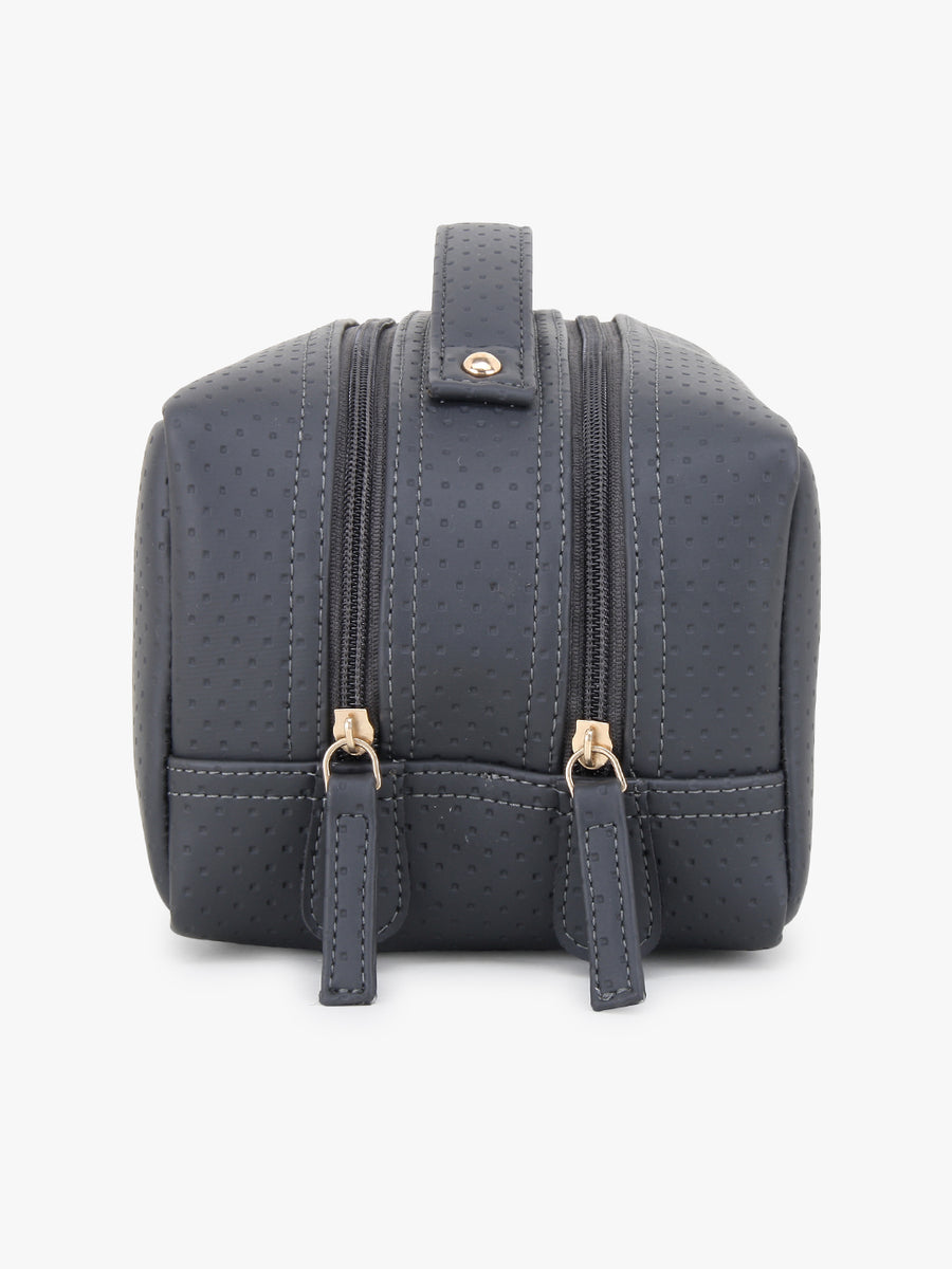 Two Compartment Travel Kit in Grey